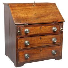 George III Mahogany Miniature Desk