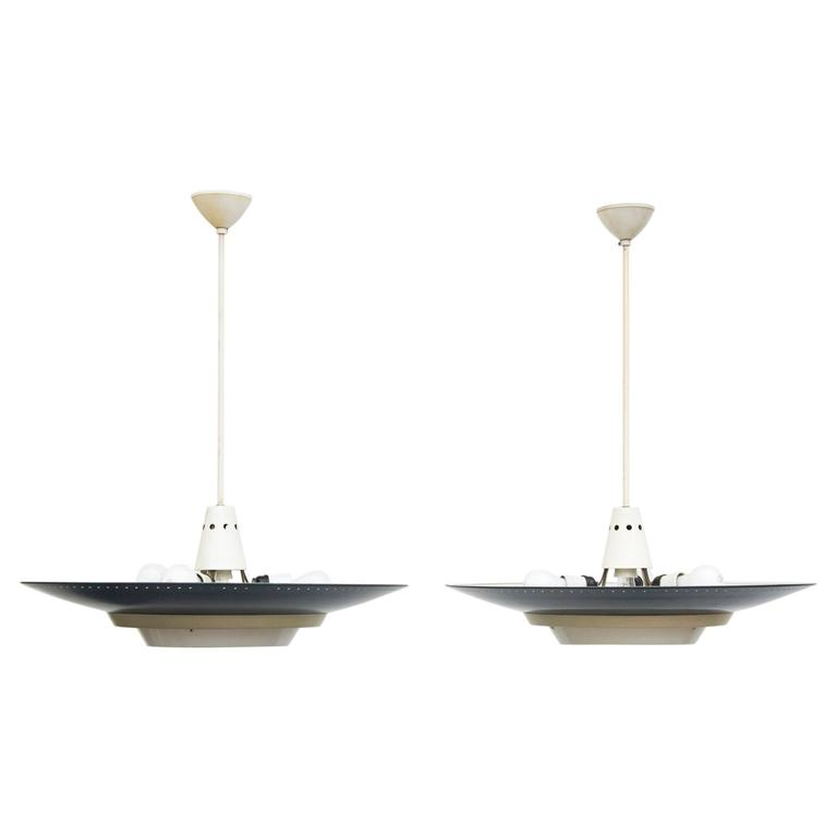 Louis Kalff For Philips Industrial Ceiling Lamp At 1stdibs