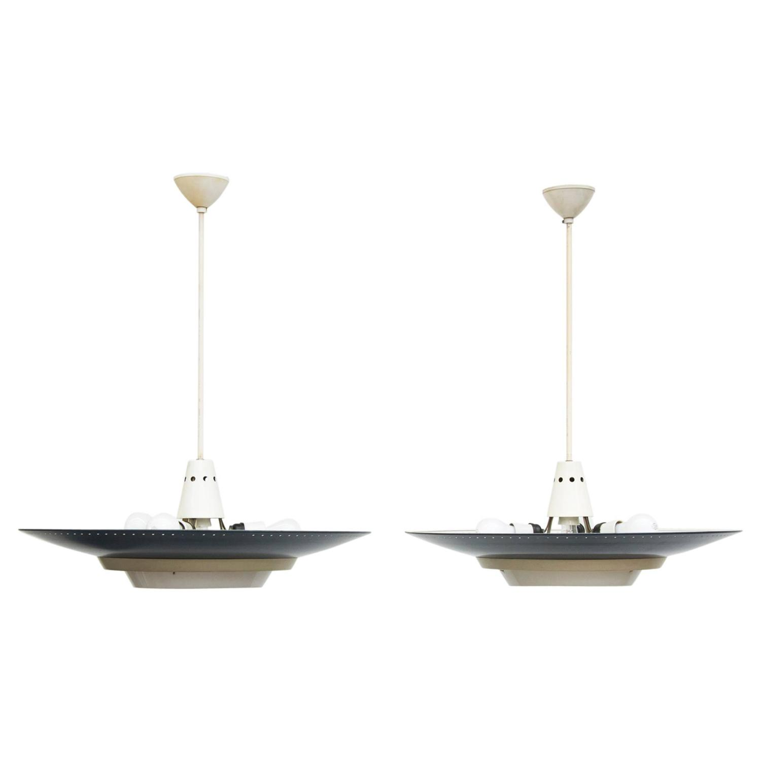 Louis Kalff For Philips Industrial Ceiling Lamp For Sale