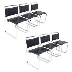 "Set of Six Cantilever Nicos Zographos ""66"" Chairs"