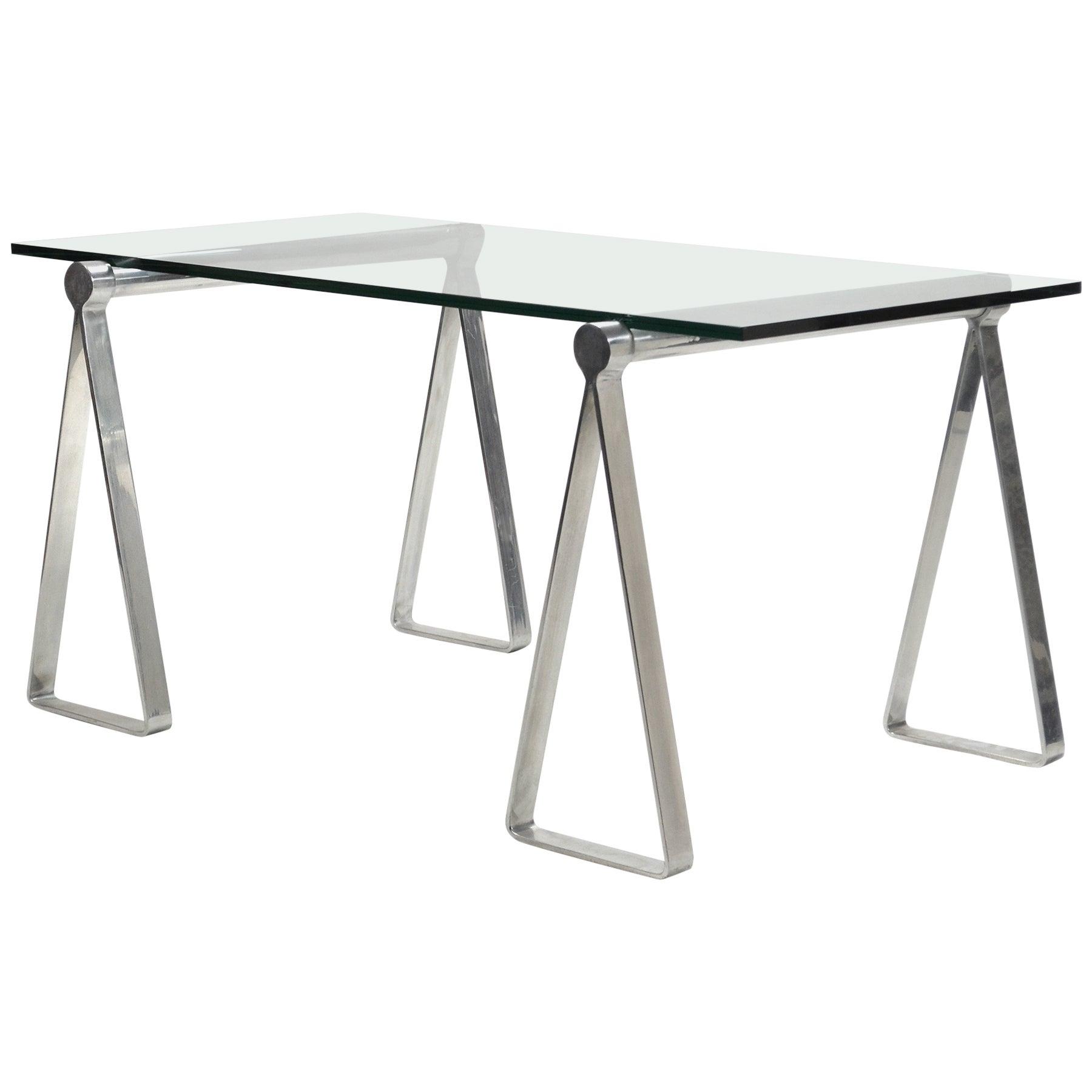 "1970s Aluminum ""Sawhorse"" Table or Desk"