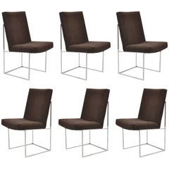 Milo Baughman Set of Six Dining Chairs by Thayer Coggin