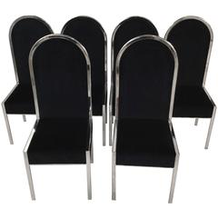 Set of Six Italian Design Dining Chairs