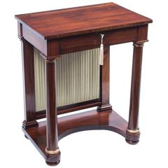 19th Century English Empire Rosewood Console Writing Table
