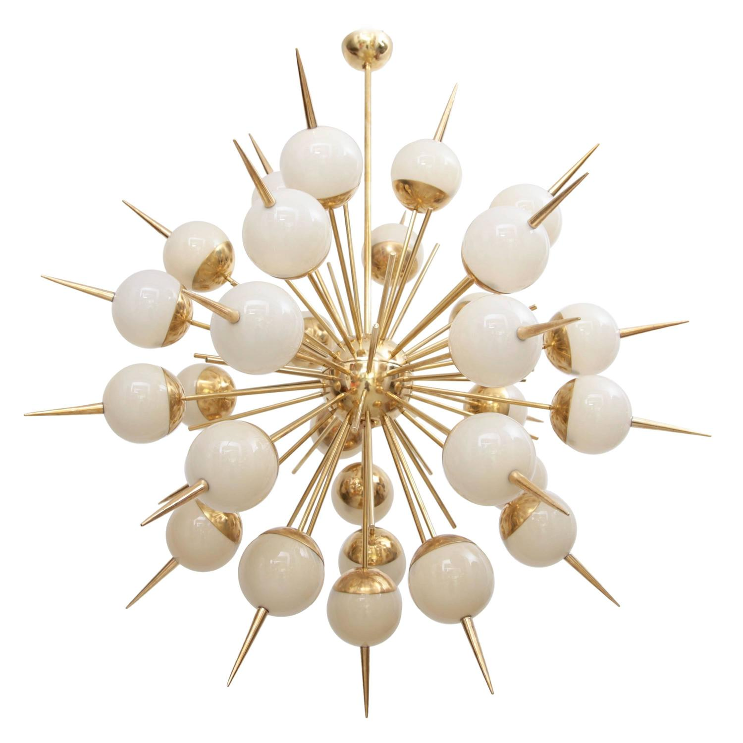 "Grigio Perla"" Murano Glass Sphere Chandelier For Sale at 1stdibs"