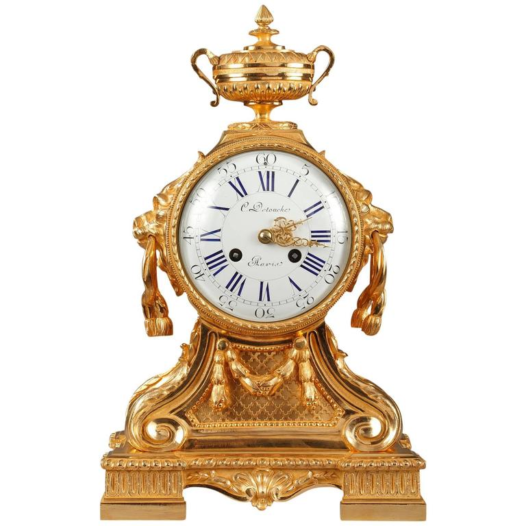 napoleon iii mantel clock in louis xvi style by c detouche 19th century 1 - Mantel Clock