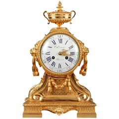Napoleon III Mantel Clock in Louis XVI Style by C. Detouche, 19th Century