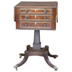 Elegant Regency Rosewood Work Table, circa 1815