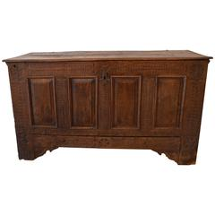 Chip-Carved German Pennsylvania Blanket Chest