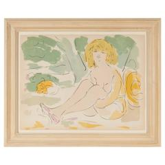 Framed Lithograph by Marcel Vertes