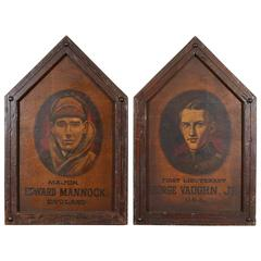 Framed Pair of Memorial Plaques
