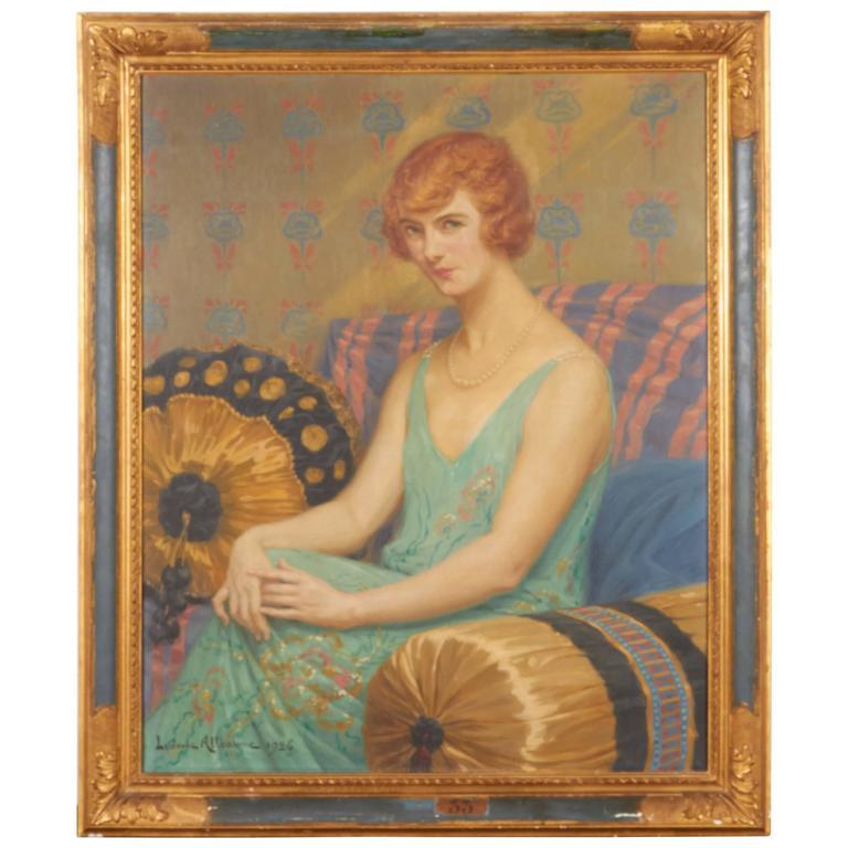 Portrait of Woman, Oil on Canvas