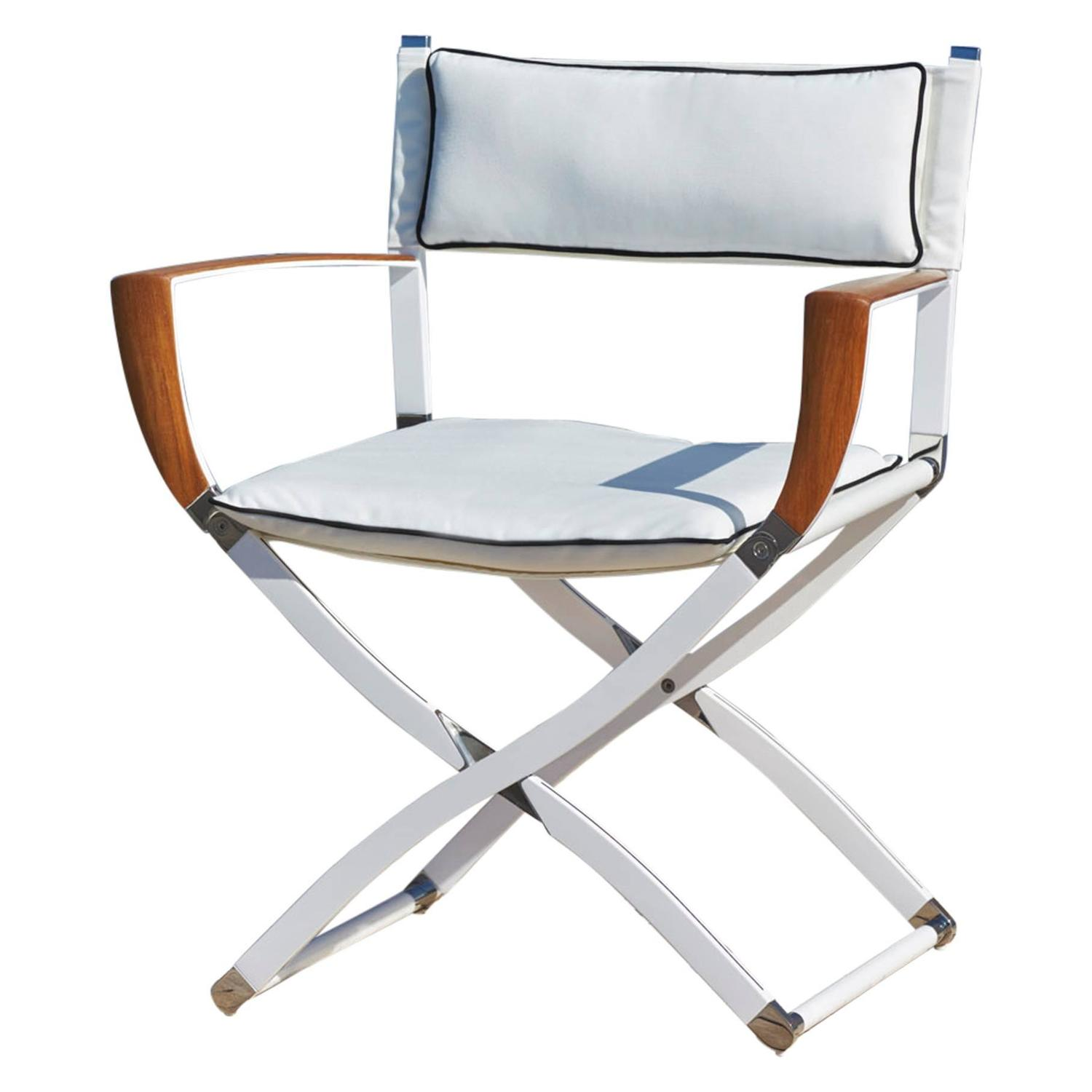 Gosling Marine Carbon Fibre and Teak Director s Chair at 1stdibs