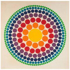 Verner Panton Roulette Circle Fabric Panel, 1965
