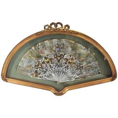 Hand-Painted Mother of Pearl Framed Fan