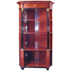 19th Century Empire Corner Cabinet