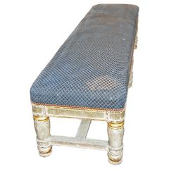 Empire Painted and Gilded Bench