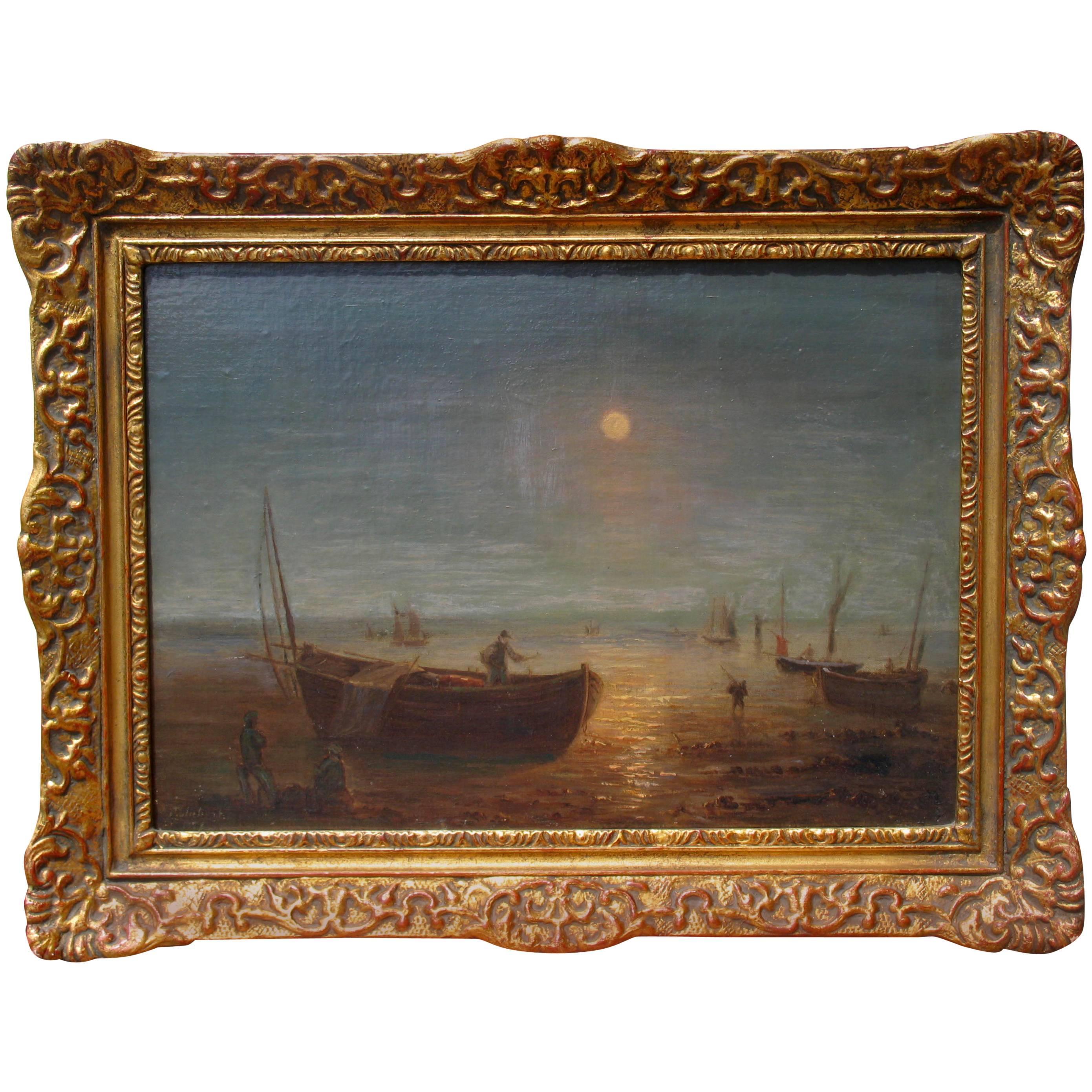 Painting by Jean Ernest Aubert 'Born 1824 Paris'