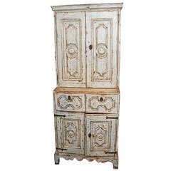 18th Century Painted and Carved Cabinet
