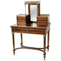 19th Century French Lady Mahogany Writing Desk