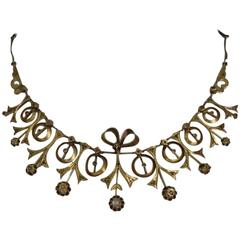 Late 19th Century Ottoman Period Brass and Paste Diamond Necklace