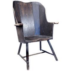 Early Rustic Plank Farm Chair