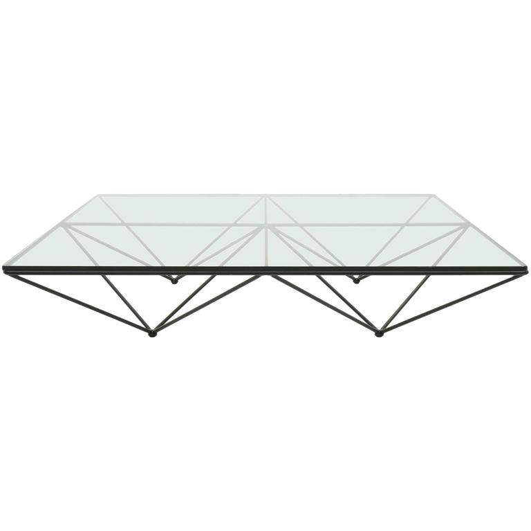 Original Alanda Square Glass Coffee Table by Paolo Piva for B&B ...