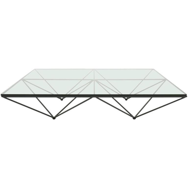 Delightful Original Alanda Square Glass Coffee Table By Paolo Piva For Bu0026B Italia 1