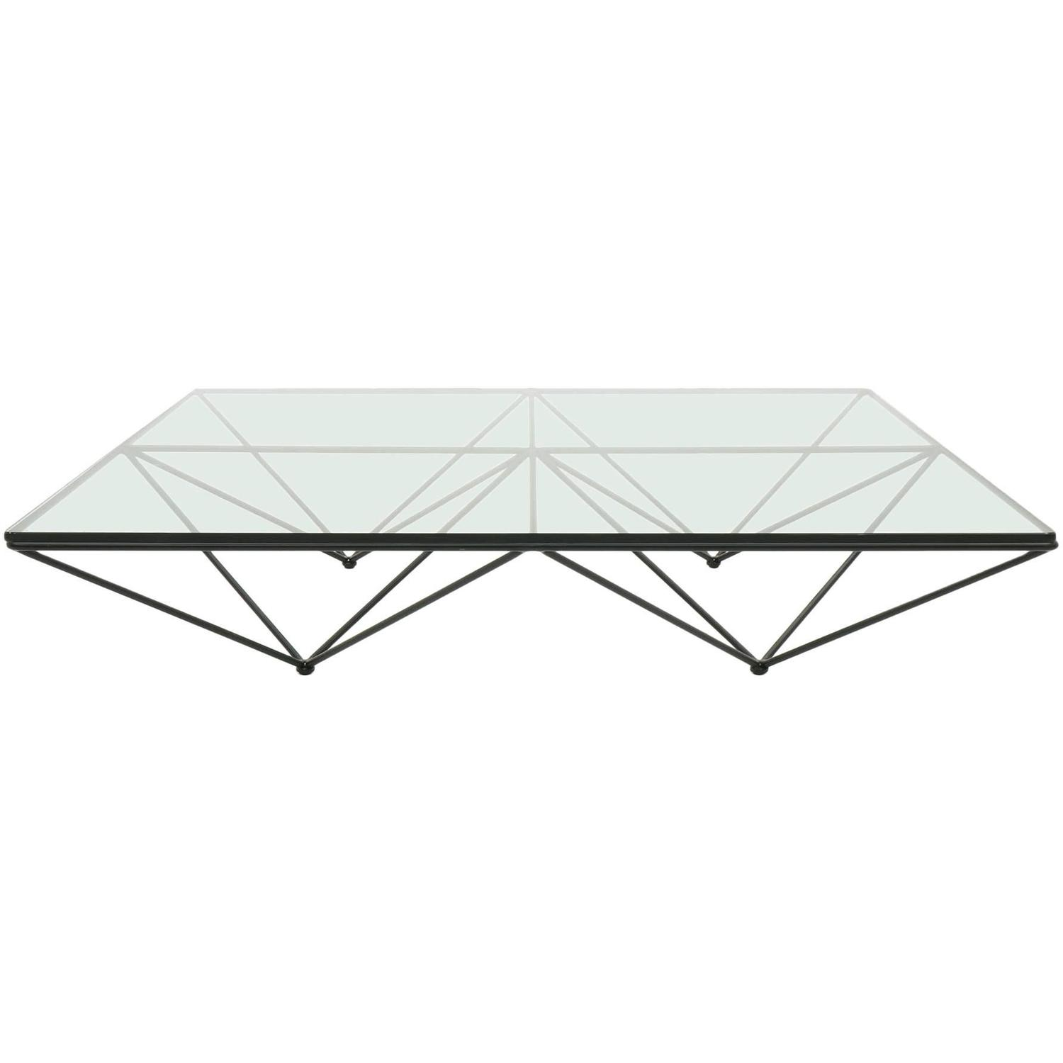 Original Alanda Square Glass Coffee Table by Paolo Piva for B&B