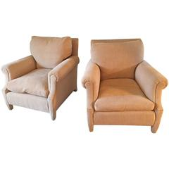 Pair of Club Chairs Attributed to Maison Jansen