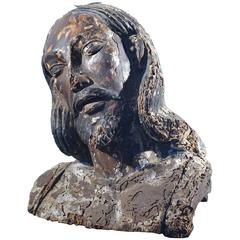 1700s Religious Figure with Heavy Patina