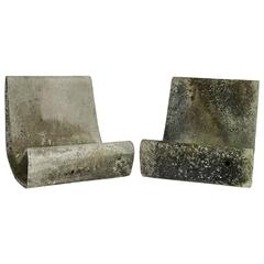 concrete outdoor mid century modern loop chairs by willy guhl browse cement furniture