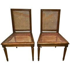 Pair of Louis XVI Directoire Chairs