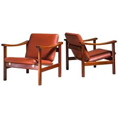Hans Wegner Pair of Lounge Chairs for GETAMA, Denmark, 1950s