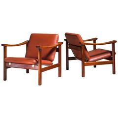 Hans Wegner Pair of Lounge Chairs for GETAMA, Denmark, 1950s