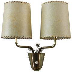 Paavo Tynell, Taito Oy, Brass Wall Light with Flowers