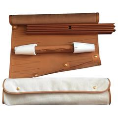 Hermes Backgammon Set in Natural Leather and Beechwood, Still Boxed, Never Used