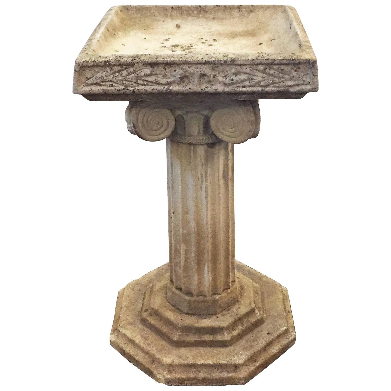 English Garden Stone Bird Bath In The Classical Style For