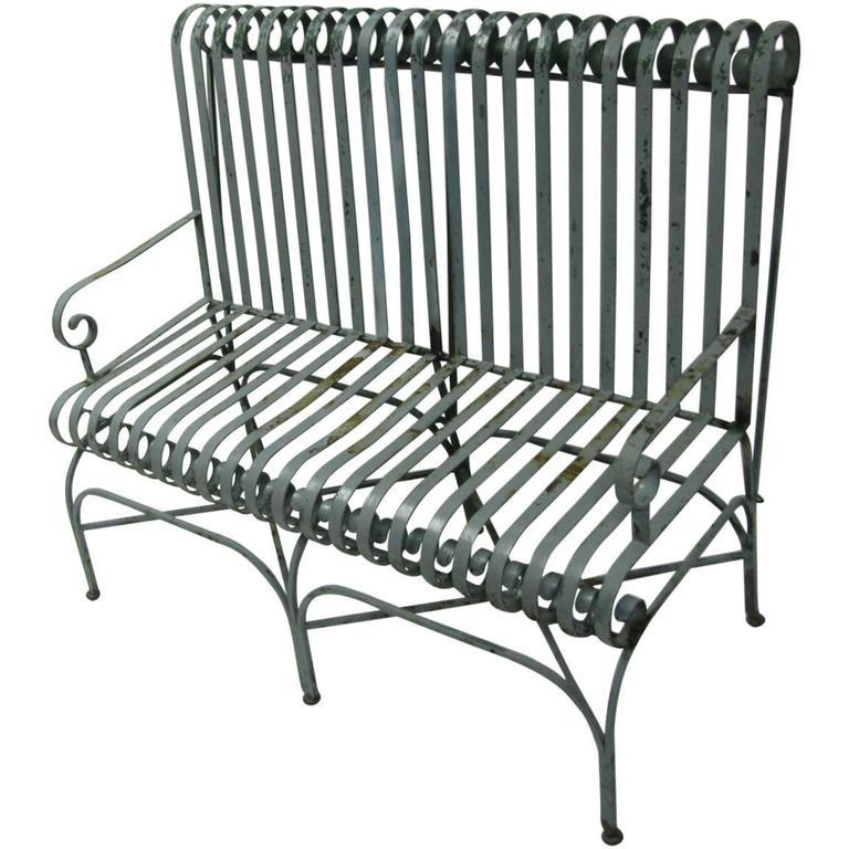Classic Antique Strap Iron Garden Bench