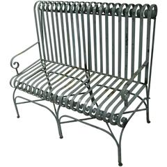Classic Antique Strap Iron Bench