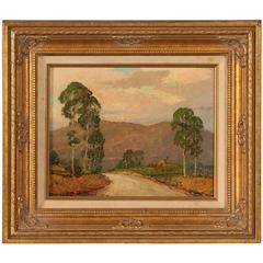 Small Original Oil Painting on Board, Signed Dwight C. Holmes