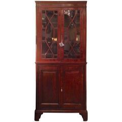 Rare Diminutive George III Rosewood Corner Cupboard