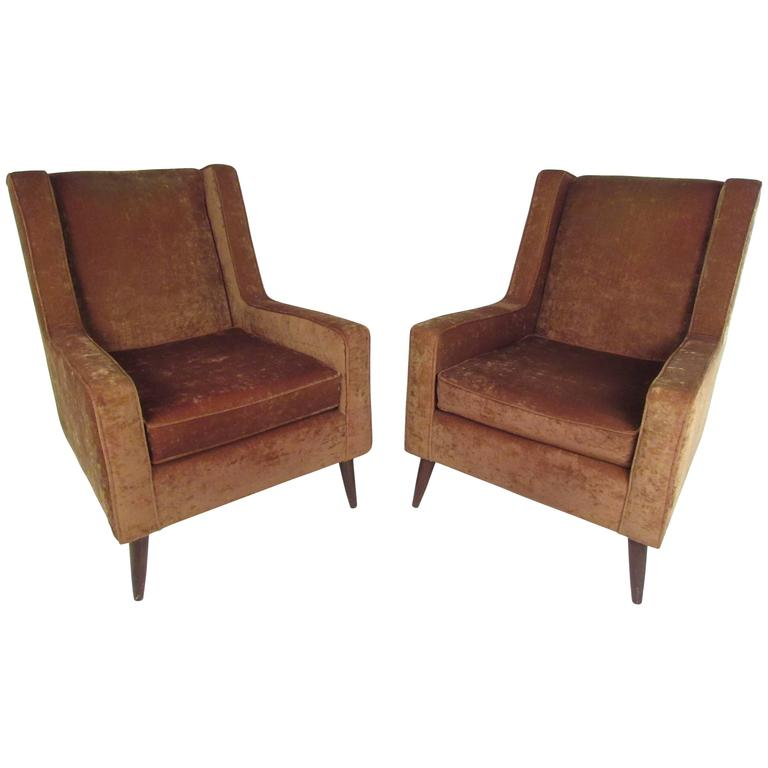 Pair of Vintage Paul McCobb Style Lounge Chairs
