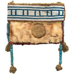 Antique Native American Beaded Pouch, Athapaskan, Mid-19th Century