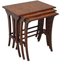 Mid-20th Century Yew Nest of Tables