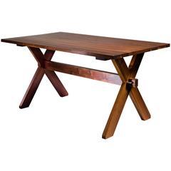 Rude Osolnik Walnut Craft Dining Table, USA, 1960s