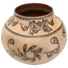 Antique Native American Pottery Jar, San Ildefonso Pueblo, 19th Century