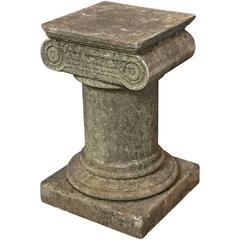 English Garden Stone Plinth in the Classical Style