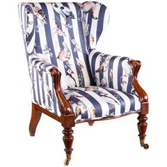 Victorian Armchair Upholstered in House of Hackney's 'Flights of Fancy' Fabric