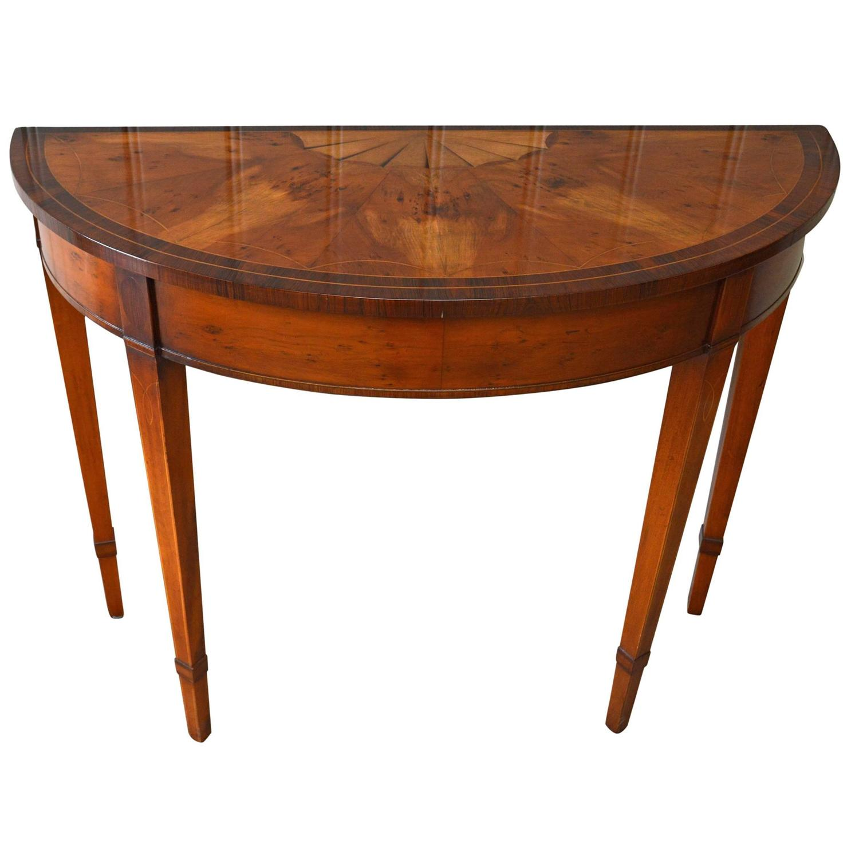 table demi lune rabattable. Black Bedroom Furniture Sets. Home Design Ideas